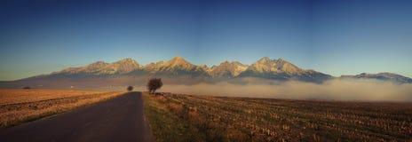 Hohes Tatras-Panorama Stockfoto