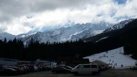 Hohes Tatras-Skiort Slowakei Stockbild