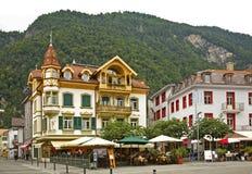 Hoheweg deptak w Interlaken Szwajcaria obraz stock