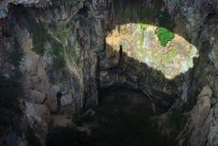Hohle Höhle der Hölle Die Türkei stockfotos