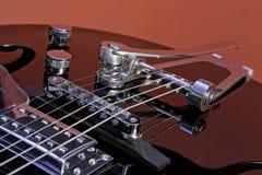 Hohle Karosserien-Gitarre Stockfoto