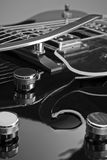 Hohle Karosserien-Gitarre Stockfotografie