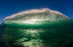 Hohle Ozean-Seewellen-Wasser-Fotographie Lizenzfreies Stockfoto