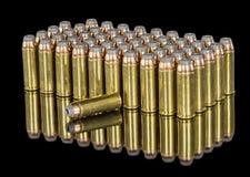 Hohle Punkt Munition für eine Pistole Stockfotos