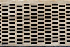 hohler Backsteinmauerbeschaffenheitshintergrund Stockbild