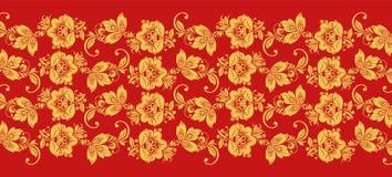 Hohloma branch lines seamless pattern vector Royalty Free Stock Photos