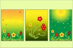 Hohloma brillante determinado floral del estilo de la tarjeta de felicitación Fotografía de archivo