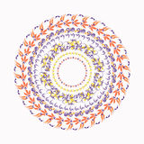Hohloma circular pattern on a white. vector illustration Stock Photos