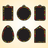Hohloma hangtags set Stock Images