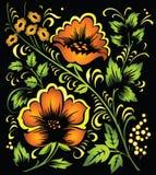 hohloma kolorowe kwiecisty ornament ilustracja wektor