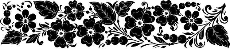 Hohloma noir et blanc de vecteur Images libres de droits