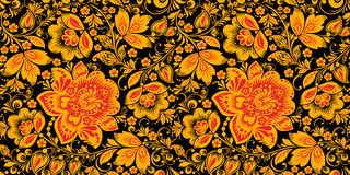 Free Hohloma Seamless Pattern In Traditional Colors Royalty Free Stock Photos - 90820728