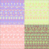 Hohloma seamless pattern set brown vector illustration Stock Image