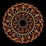 Hohloma traditionell modell på en svart också vektor för coreldrawillustration Arkivbild