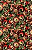 Hohloma wallpaper Stock Photos