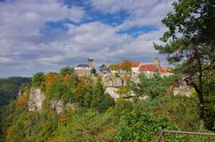 Hohnstein城堡 库存图片