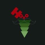 Hoho,树圣诞节 免版税库存图片