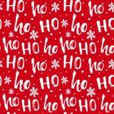 Hohoho样式,圣诞老人笑 圣诞节设计的无缝的纹理 免版税库存照片