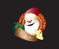 Hohoho Merry Christmas Santa Claus Logo Design Royalty Free Stock Images
