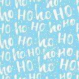 Hohoho modell, Santa Claus skratt Sömlös textur för juldesign royaltyfri illustrationer
