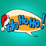 Hohoho Santa Claus good laugh comic bubble text Royalty Free Stock Image