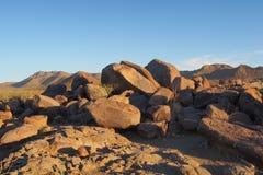 Hohokam petroglyphs of Saguaro National Park, Arizona. stock image