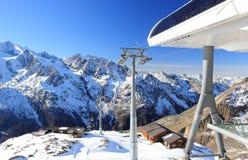 Hohsaas山, 3,142 m 阿尔卑斯,瑞士 库存照片