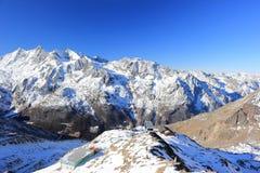 Hohsaas山, 3,142 m 阿尔卑斯,瑞士 库存图片