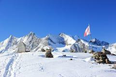 Hohsaas山, 3,142 m 阿尔卑斯,瑞士 免版税库存照片