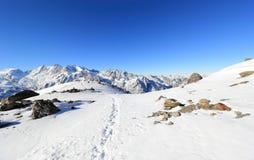Hohsaas berg, 3.142 M Fjällängarna, Schweiz Royaltyfri Foto