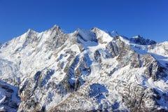 Hohsaas berg, 3.142 M Fjällängarna, Schweiz Arkivbilder