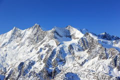 Hohsaas mountain, 3,142 m. The Alps, Switzerland. Royalty Free Stock Image