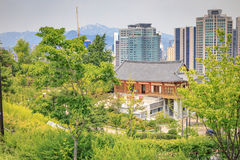 Hohyeondang Hall on Jun 20, 2017 in Namsan Park, Seoul, Korea stock images