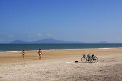 Hoi海滩越南 库存照片