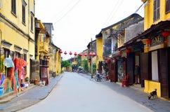 Hoi An är en populär turist- destination av Asien Fotografering för Bildbyråer