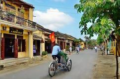 Hoi An är en populär turist- destination av Asien Arkivfoto
