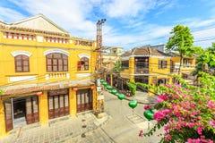 Hoi An è il sito dell'eredità culturale del mondo, famoso per le colture miste & l'architettura immagini stock