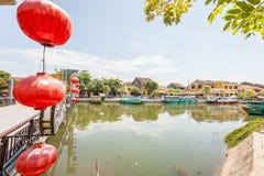 Hoi An è il sito dell'eredità culturale del mondo, famoso per le colture miste & l'architettura fotografie stock