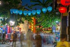 Hoi μια αρχαία πόλη κατά τη διάρκεια της νύχτας με το φανάρι ελαφρύ Βιετνάμ στοκ εικόνες με δικαίωμα ελεύθερης χρήσης