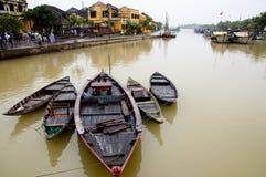 Hoi łodzie - Wietnam obraz stock