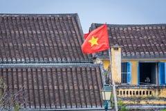 Hoi ένα τοπίο πόλεων στο ηλιοβασίλεμα, προορισμός ταξιδιού του Βιετνάμ στοκ φωτογραφίες