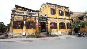 Hoi, 28.2016 Βιετνάμ-Δεκεμβρίου: Τα περισσότερα από τα κτήρια στην πόλη είναι κίτρινα Το Hoi είναι πόλη των φαναριών και ενός ανο φιλμ μικρού μήκους