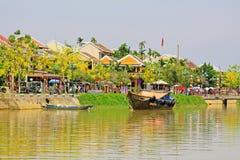 Hoi μια αρχαία πόλης όχθη ποταμού, παγκόσμια κληρονομιά της ΟΥΝΕΣΚΟ του Βιετνάμ Στοκ Εικόνα