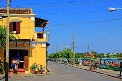 Hoi μια αρχαία πόλης όχθη ποταμού, παγκόσμια κληρονομιά της ΟΥΝΕΣΚΟ του Βιετνάμ Στοκ φωτογραφίες με δικαίωμα ελεύθερης χρήσης