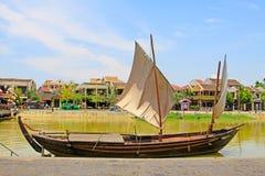 Hoi μια αρχαία πόλης όχθη ποταμού, παγκόσμια κληρονομιά της ΟΥΝΕΣΚΟ του Βιετνάμ Στοκ Φωτογραφία