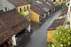 Hoi μια αρχαία πόλη μια βροχερή ημέρα Στοκ φωτογραφίες με δικαίωμα ελεύθερης χρήσης