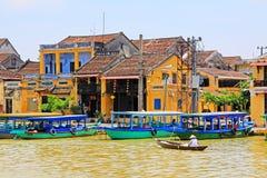 Hoi μια όχθη ποταμού, παγκόσμια κληρονομιά της ΟΥΝΕΣΚΟ του Βιετνάμ Στοκ φωτογραφίες με δικαίωμα ελεύθερης χρήσης