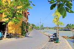 Hoi μια όχθη ποταμού, παγκόσμια κληρονομιά της ΟΥΝΕΣΚΟ του Βιετνάμ Στοκ εικόνες με δικαίωμα ελεύθερης χρήσης