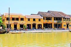 Hoi μια όχθη ποταμού, παγκόσμια κληρονομιά της ΟΥΝΕΣΚΟ του Βιετνάμ Στοκ φωτογραφία με δικαίωμα ελεύθερης χρήσης