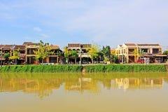 Hoi μια όχθη ποταμού, παγκόσμια κληρονομιά της ΟΥΝΕΣΚΟ του Βιετνάμ Στοκ Εικόνα
